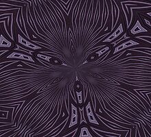 Pale Aubergine and Eggplant Abstract Pattern Kaleidoscope by taiche