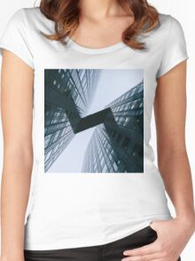 Tower view from the ground Women's Fitted Scoop T-Shirt