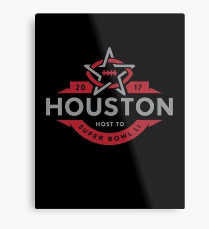 Houston host to Super Bowl Li 2017 Metal Print