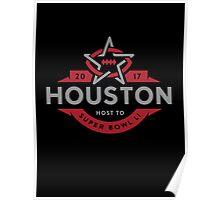 Houston host to Super Bowl Li 2017 Poster
