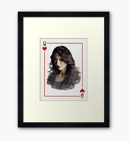 Root - Person of interest - Queen hearth Framed Print