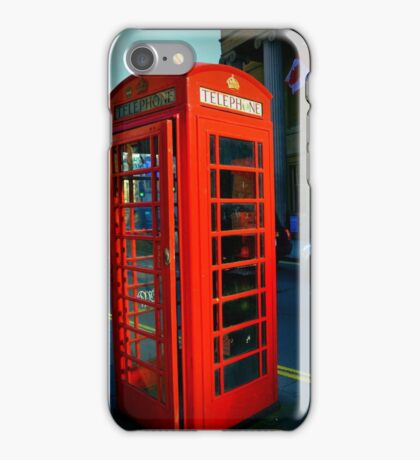 Telephone box, London's traditions iPhone Case/Skin