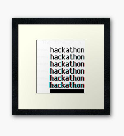 Time at a hackathon shirt (8-bit 3D) Framed Print
