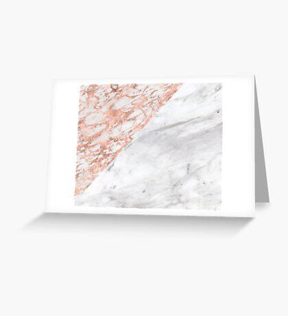 Massarosa Marchionne Bianco rose gold marble Greeting Card