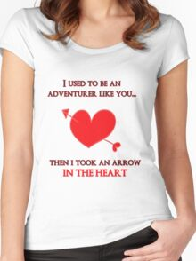 Nerd Valentine - Arrow in the heart Women's Fitted Scoop T-Shirt