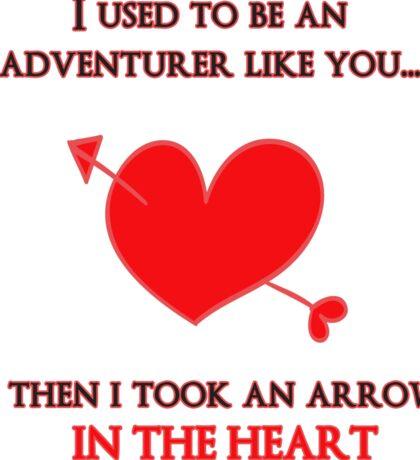 Nerd Valentine - Arrow in the heart Sticker