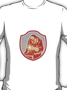 Welder Welding Working Shield Retro T-Shirt