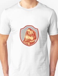 Welder Welding Working Shield Retro Unisex T-Shirt