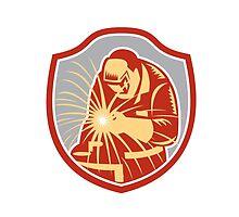 Welder Welding Working Shield Retro by patrimonio