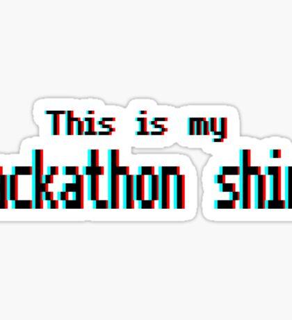 Hackathon shirt (8-bit 3D) Sticker