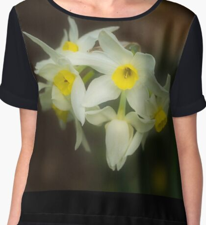 Softly Daffodils Chiffon Top