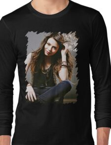 Miranda Cosgrove - Oil Paint Art Long Sleeve T-Shirt