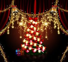Xmas tree on stage by AnnArtshock