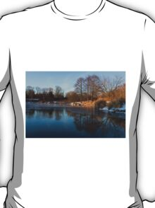 Still and Early - Icy Reflections With a Touch of Snow T-Shirt