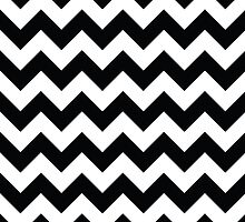 Black & White Chevron Pattern by happycheek