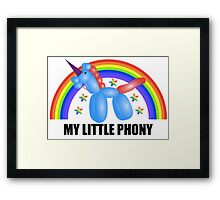 My Little Phony Framed Print