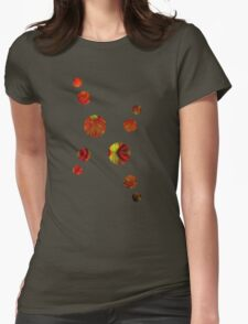 d45: autumn - pastels and pixels  Womens Fitted T-Shirt