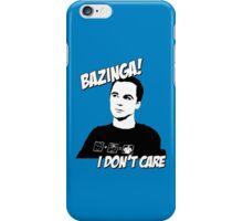 Bazinga! I don't care iPhone Case/Skin