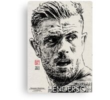 Jordan Henderson - Liverpool FC (Black pen - 2) Canvas Print