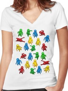 Gang Beasts Women's Fitted V-Neck T-Shirt