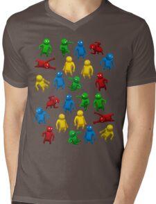 Gang Beasts Mens V-Neck T-Shirt