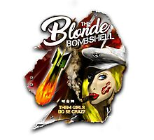 The Blonde Bombshell Photographic Print