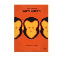 No355 My 12 MONKEYS minimal movie poster Art Print