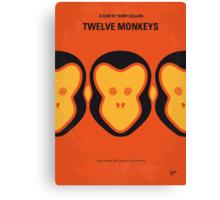 No355 My 12 MONKEYS minimal movie poster Canvas Print