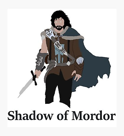 Talion, the shadow of Mordor Photographic Print