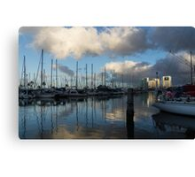 Spectacular Storm Light - Tropical Skies Over Ala Wai Harbor in Honolulu, Hawaii Canvas Print