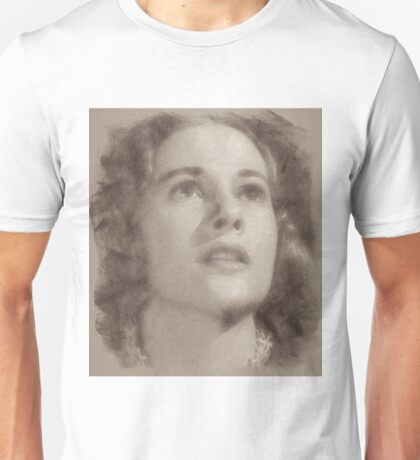 Joan Fontaine Vintage Hollwyood Actress Unisex T-Shirt