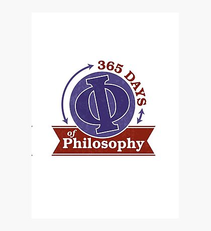 365 Days of Philosophy Photographic Print