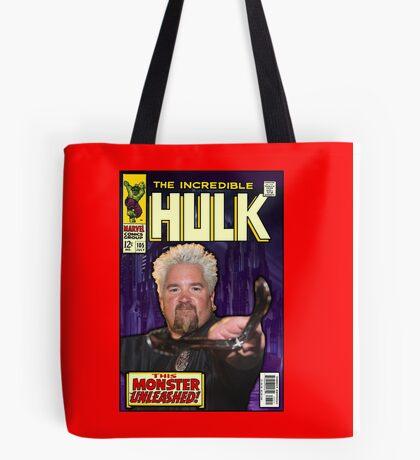 Guy Fieri/ Hulk Mash Up Tote Bag