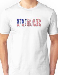 FUBAR - USA flag, black outline. T-Shirt