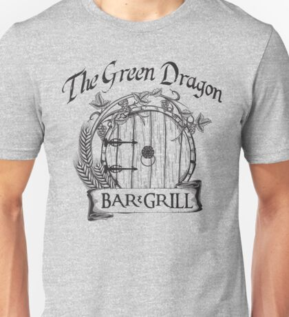 The Hobbit Green Dragon Bar & Grill Shirt T-Shirt Unisex T-Shirt