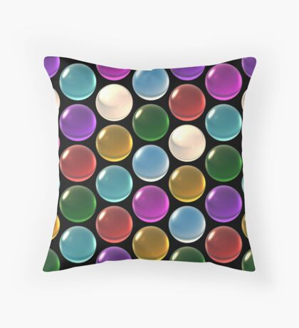 crystal ball array pattern Throw Pillow