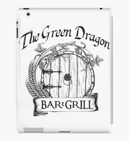 The Hobbit Green Dragon Bar & Grill Shirt T-Shirt iPad Case/Skin