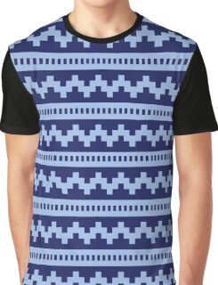 Pixel Blue Side Scroller Graphic T-Shirt
