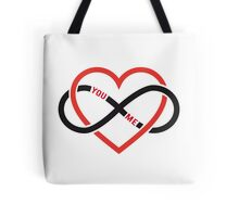 never ending love, red heart with infinity sign Tote Bag