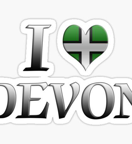 I Love Devon Sticker