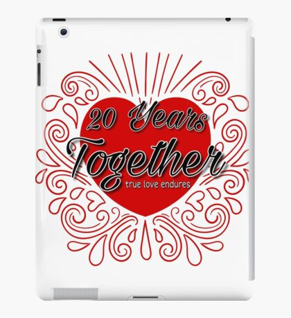 20 Years Together T-Shirt iPad Case/Skin
