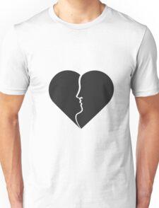 Heart kiss Unisex T-Shirt