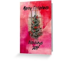 Merry Christmas Blessings 2014 Greeting Card