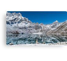 Mountain reflexion in cristal clear lake  Canvas Print