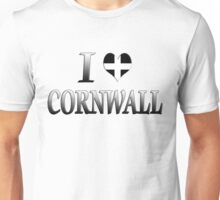 I Love Cornwall Unisex T-Shirt