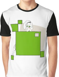 Paper doll with green squares Graphic T-Shirt