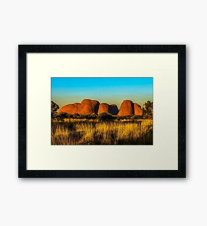 Sunset at The Olgas Framed Print