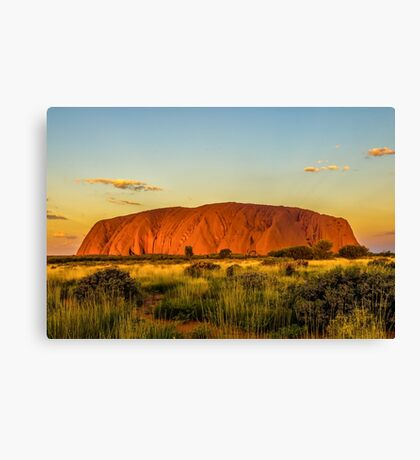 Sunset at the Rock Canvas Print