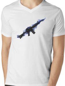 CSGO M4A1 - Blue Mens V-Neck T-Shirt