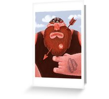 Biker in love Greeting Card